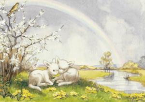 Lambs and Rainbow